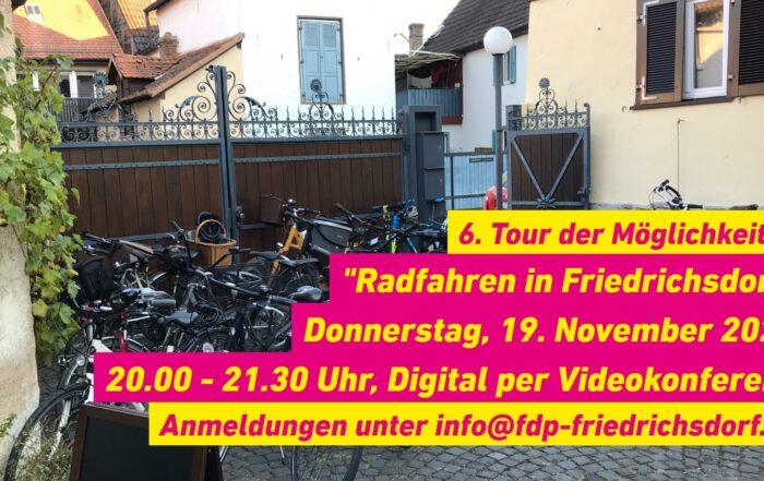 Grafik - 6te Tour der Möglichkeiten - FDP Friedrichsdorf - Fahrradwege