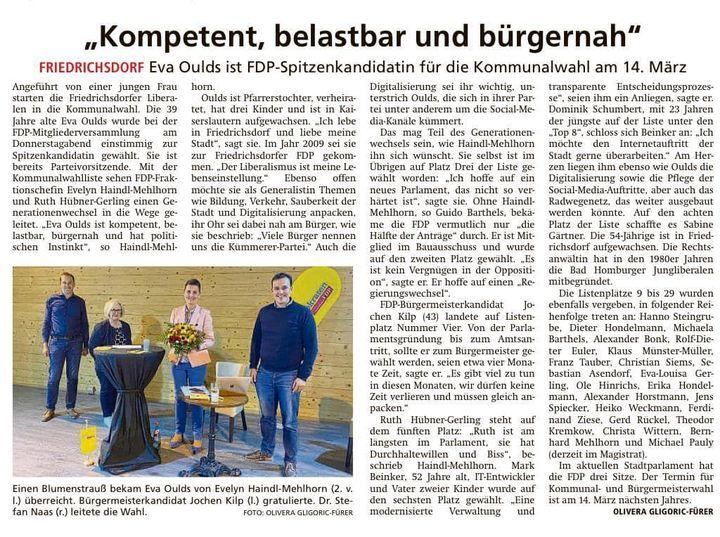 Foto Presseartikel FDP Friedrichsdorf Listenaufstellung