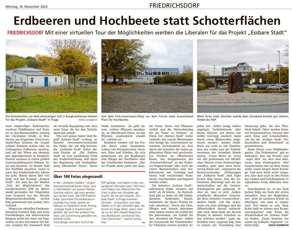 Pressetext - 5. Tour der Möglichkeiten - FDP Friedrichsdorf