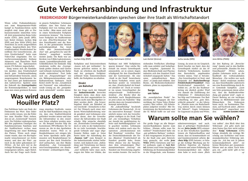 """Artikel """"Gute Verkehrsanbindung und Infrastruktur"""