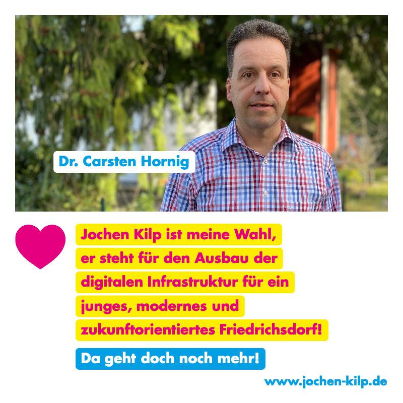 Testimonial Dr. Carsten Hornig