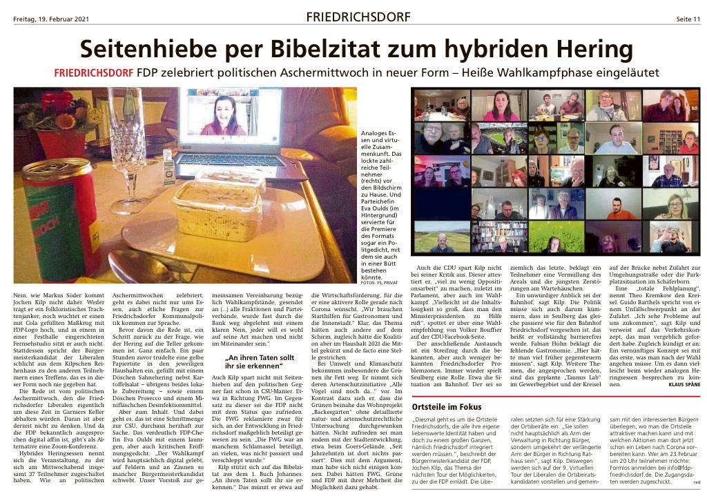 Foto Presseartikel - Seitenhiebe per Bibelzitat