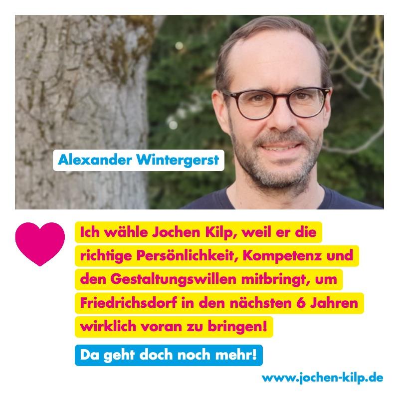 Testimonial - Alexander Wintergerst - Kommunalwahl Friedrichsdorf 2021