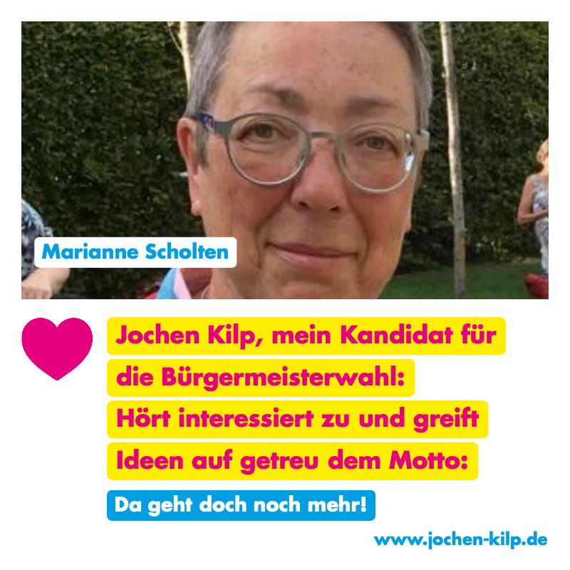 Testimonial - Marianne Scholten - Kommunalwahl Friedrichsdorf 2021