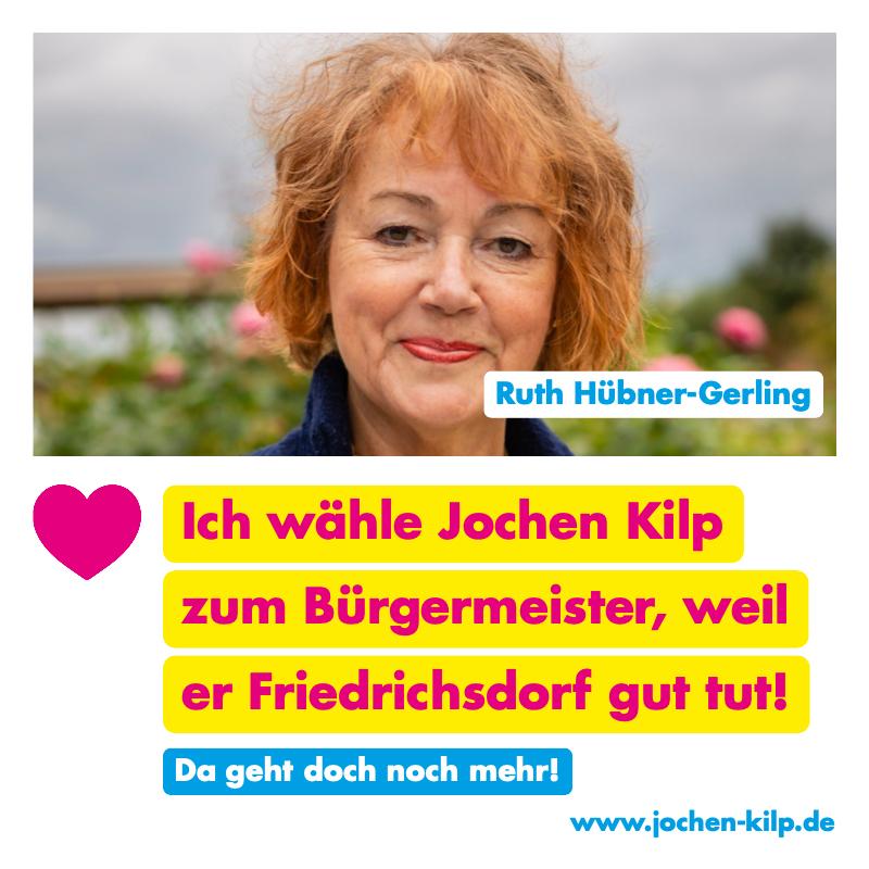 Testimonial - Ruth Hübner-Gerling - Kommunalwahl Friedrichsdorf 2021