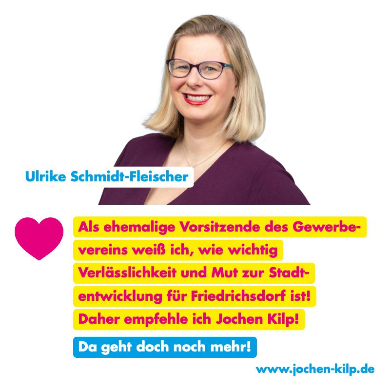 Testimonial - Ulrike Schmidt-Fleischer - Kommunalwahl Friedrichsdorf 2021